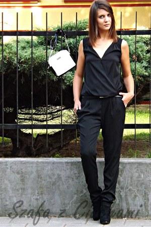 black Deichmann boots - black cotton Mohito blazer - white Mohito purse