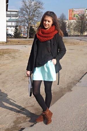 black Mohito sweater - dark brown New Yorker boots - black Bazar blazer