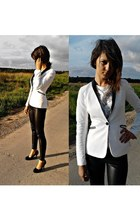 leather reserved jacket - leather reserved leggings - Mohito blouse