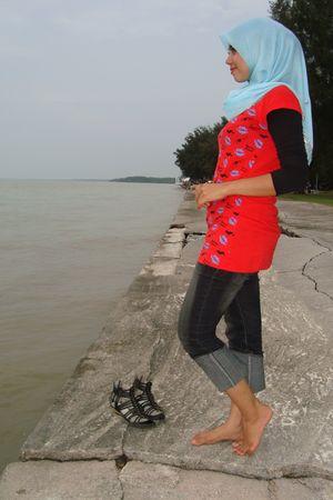 rock and republic jeans - Thailand flea market shirt - Hawa scarf - Balalaca sho