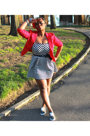Forever 21 dress - Forever21 blazer - Vans sneakers
