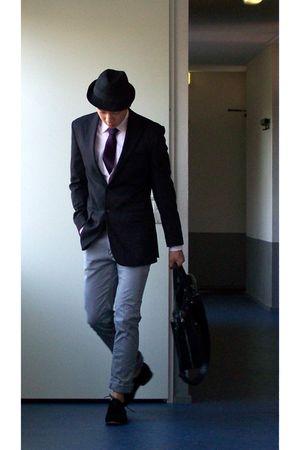 black Magnanni shoes - purple we tie - silver Bershka jeans - pink we shirt - bl