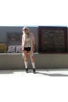 SES blazer - Autograph scarf - SES shorts - Vermont socks - LondonRebel heels
