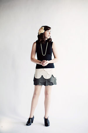 gray modcloth skirt - black Loft shirt - black H&M boots