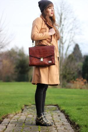 bronze milanoo coat - black Choies boots