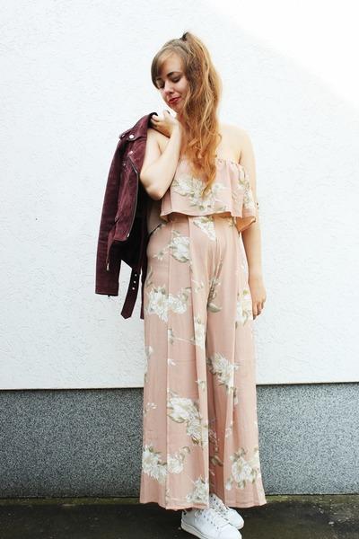 light pink zaful pants - light pink zaful top
