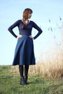 Navy-primark-shirt-blue-persunmall-skirt-brick-red-primark-necklace