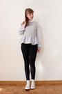 Black-drdenim-jeans-periwinkle-choies-blouse-beige-converse-sneakers