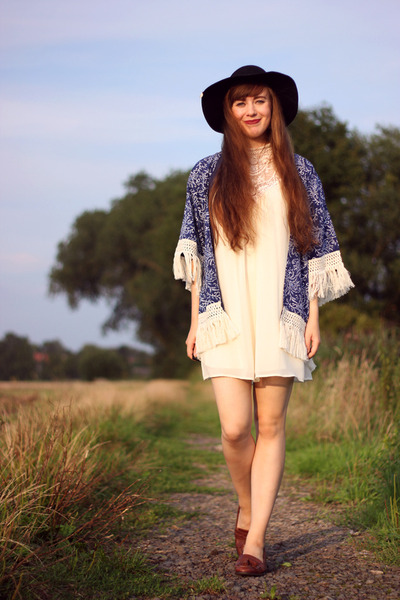 ivory Primark dress - blue JollyChic coat