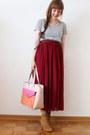 Neutral-lydc-london-bag-ruby-red-oasap-skirt