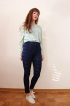 navy PERSUNMALL jeans - lime green Atmosphere blouse
