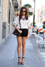 Salvatore-ferragamo-bag-zara-shorts-zara-necklace-zara-blouse