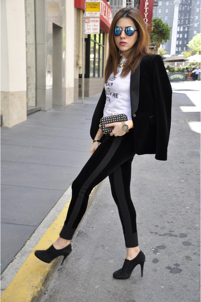 Topshop bag - Gucci belt - Zara suit
