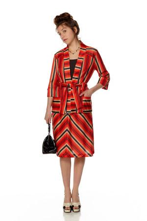 red striped Revival Vintage Boutique suit