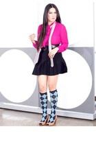 stockings - pleaded skirt Skirt skirt - lachic Belt belt