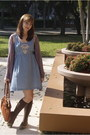 Light-purple-urban-outfitters-cardigan-light-blue-modcloth-dress-tawny-modcl