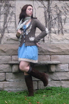 gray pocket cardigan The Buckle sweater - brown journeys boots