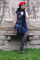 hat - Express dress - scarf - Target tights - modcloth shoes