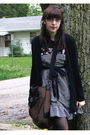 Black-urban-outfitters-cardigan-black-hot-topic-shirt-black-forever-21-dress