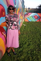black pleated Cotton Candy skirt