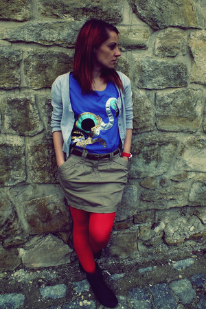 Outfitters Nation t-shirt - City Chic boots - Pull & Bear skirt - adidas watch