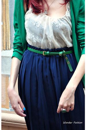 blazer - skirt - ring