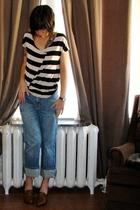 blue H&M jeans - H&M t-shirt