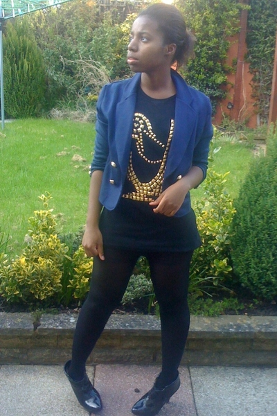 H&M blazer - Zara t-shirt - Topshop shoes