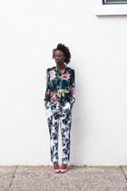 floral H&M blouse - floral Forever 21 pants