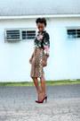 Forever-21-skirt-h-m-blouse-carlos-santana-heels