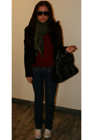 True Religion jeans - Ralph Lauren sweater - Chlo purse - Rizzo scarf