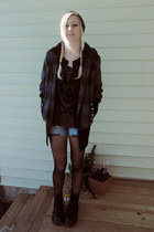 Dr Martens boots - coat - hat - leggings - shirt