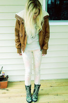 top - boots - jeans - jacket