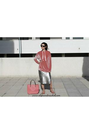 pink shein sweatshirt