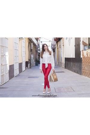 white shein blouse