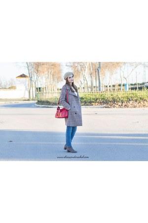 tan shein coat