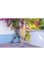 mustard shein dress