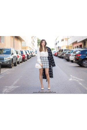 white plaid shein skirt