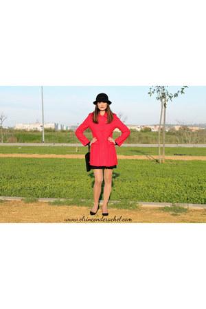 a-line red lady dresslily coat