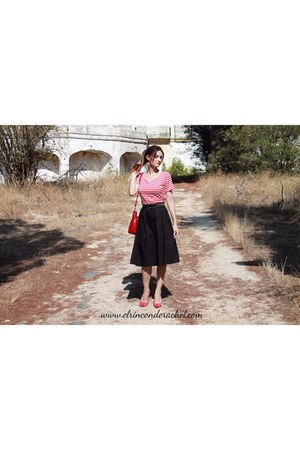 black retro stripes Chicloth dress