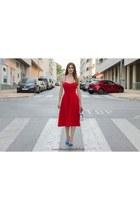 red shein dress