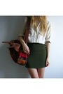 White-thrifted-blouse-green-thrifted-skirt-brown-dingo-boots-brown-penfiel