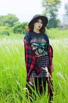 IRON MAIDEN t-shirt - Choies shirt - old skirt