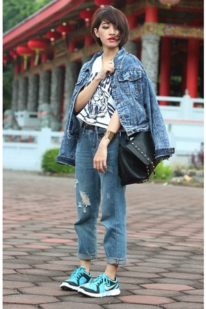 nike shoes - rosewholesalecom jeans - Sheinside jacket