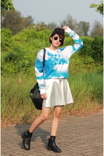 Choies sweatshirt - Choies skirt