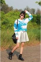 Choies sweatshirt - Choies skirt