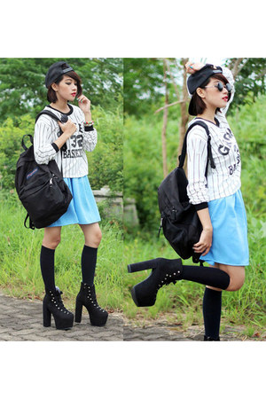 jansport bag - Lovelyshoesnet boots - PERSUNMALL sweatshirt