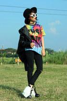 Lovelyshoesnet shoes - Sheinside jacket - Choies shirt