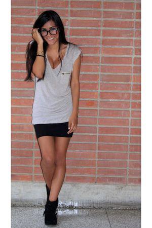 black Forever 21 skirt - Zara shirt
