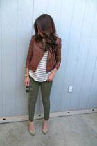 Forever 21 jacket - Forever 21 top - H&M pants - Aldo wedges